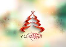 όμορφο διάνυσμα δέντρων απεικόνισης Χριστουγέννων ανασκόπησης διανυσματική απεικόνιση