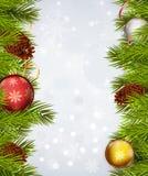 όμορφο διάνυσμα δέντρων απεικόνισης Χριστουγέννων ανασκόπησης Στοκ Φωτογραφίες