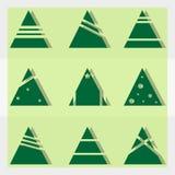 όμορφο διάνυσμα δέντρων απεικόνισης Χριστουγέννων Στοκ φωτογραφίες με δικαίωμα ελεύθερης χρήσης