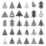όμορφο διάνυσμα δέντρων απεικόνισης Χριστουγέννων απεικόνιση αποθεμάτων