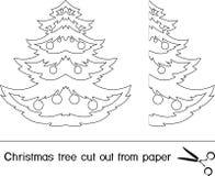 όμορφο διάνυσμα δέντρων απεικόνισης Χριστουγέννων ελεύθερη απεικόνιση δικαιώματος