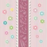 Όμορφο διάνυσμα ευχετήριων καρτών μωρών floral απεικόνιση αποθεμάτων