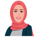 Όμορφο διάνυσμα κοριτσιών Hijab Στοκ Φωτογραφίες