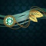 Όμορφο διαμάντι και χρυσές διακοσμήσεις Στοκ φωτογραφία με δικαίωμα ελεύθερης χρήσης