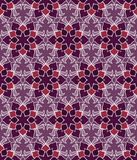 Όμορφο διανυσματικό άνευ ραφής σχέδιο τυπωμένων υλών Λουλούδια Mandala που τίθενται με το πορφυρό υπόβαθρο Στοκ εικόνα με δικαίωμα ελεύθερης χρήσης