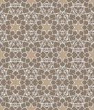 Όμορφο διανυσματικό άνευ ραφής σχέδιο τυπωμένων υλών Λουλούδια Mandala που τίθενται με το καφετί υπόβαθρο Στοκ Εικόνα