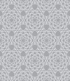 Όμορφο διανυσματικό άνευ ραφής σχέδιο τυπωμένων υλών Λουλούδια Mandala που τίθενται με το γκρίζο υπόβαθρο Στοκ Εικόνα