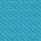 Όμορφο διανυσματικό μπλε σχέδιο κυμάτων θάλασσας Στοκ φωτογραφίες με δικαίωμα ελεύθερης χρήσης