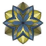 Όμορφο διανυσματικό λουλούδι mandala Διακοσμητικό στρογγυλό floral αντικείμενο Στοκ φωτογραφίες με δικαίωμα ελεύθερης χρήσης