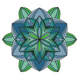 Όμορφο διανυσματικό λουλούδι mandala Διακοσμητικό στρογγυλό floral αντικείμενο Στοκ Εικόνες