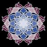 Όμορφο διανυσματικό λουλούδι mandala Διακοσμητικό στρογγυλό floral αντικείμενο Στοκ φωτογραφία με δικαίωμα ελεύθερης χρήσης
