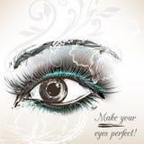 Όμορφο διανυσματικό συρμένο χέρι θηλυκό μάτι για το σχέδιο Στοκ Εικόνες