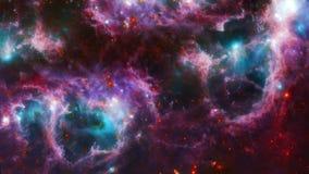 Όμορφο διαστημικό νεφέλωμα ελεύθερη απεικόνιση δικαιώματος