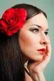 Όμορφο ισπανικό κορίτσι Στοκ Εικόνα