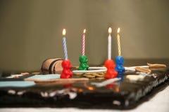 Όμορφο κέικ για τα γενέθλια μωρών Στοκ Εικόνες