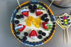 Όμορφο κέικ μούρων Στοκ Εικόνα