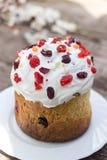 Όμορφο κέικ Πάσχας, ένα σύμβολο παραδοσιακού ορθόδοξου Πάσχας Στοκ Εικόνες