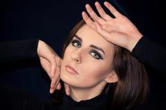 όμορφο καθαρό δέρμα πορτρέτ&o Στοκ εικόνες με δικαίωμα ελεύθερης χρήσης