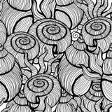 Όμορφο καθορισμένο διανυσματικό άνευ ραφής σχέδιο κοχυλιών θάλασσας Στοκ Εικόνες