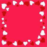 Όμορφο και αρχικό πλαίσιο των καρδιών για τα συγχαρητήρια μέσα με την ημέρα βαλεντίνων ` s διανυσματική απεικόνιση