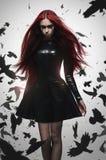 Όμορφο κακό κορίτσι κυριών goth στοκ εικόνες