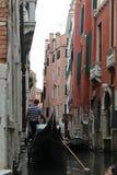 Όμορφο καλοκαίρι στη Βενετία Ιταλία με τη γόνδολα Στοκ εικόνα με δικαίωμα ελεύθερης χρήσης