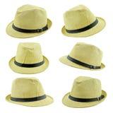 όμορφο καπέλο αχύρου που απομονώνεται Στοκ Φωτογραφίες