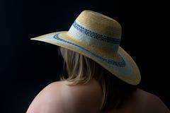όμορφο καπέλο κοριτσιών Στοκ Εικόνα