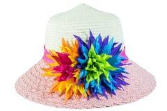 Όμορφο καπέλο χρώματος που απομονώνεται Στοκ φωτογραφία με δικαίωμα ελεύθερης χρήσης