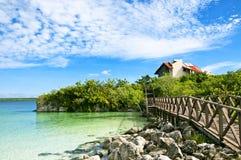 όμορφο καραϊβικό νησί σπιτιώ& Στοκ Εικόνες