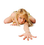 Όμορφο κατάλληλο stripper Στοκ εικόνες με δικαίωμα ελεύθερης χρήσης