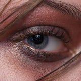 Όμορφο καφετί μάτι makeup Στοκ Εικόνες