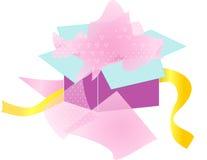 Ανοιγμένο κιβώτιο δώρων Στοκ εικόνες με δικαίωμα ελεύθερης χρήσης