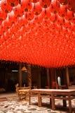 όμορφο κινεζικό κόκκινο φ&a Στοκ Εικόνα