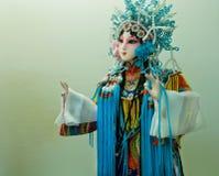 Όμορφο κινεζικό παιχνίδι από την παραδοσιακή όπερα της Κίνας Ομοίωμα της νέας πριγκήπισσας Στοκ φωτογραφία με δικαίωμα ελεύθερης χρήσης