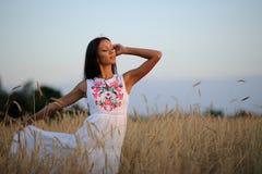 Όμορφο κομψό κορίτσι brunette Στοκ εικόνα με δικαίωμα ελεύθερης χρήσης
