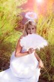 όμορφο κορίτσι αγγέλου Στοκ Εικόνες