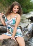 όμορφο κορίτσι ακτών Στοκ φωτογραφία με δικαίωμα ελεύθερης χρήσης