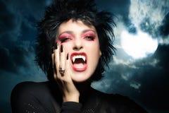 όμορφο κορίτσι γοτθικό Θηλυκό werewolf Στοκ Εικόνες