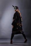 όμορφο κορίτσι γουνών παλτών Στοκ φωτογραφίες με δικαίωμα ελεύθερης χρήσης