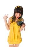 όμορφο κορίτσι δώρων κιβω&tau Στοκ Εικόνες
