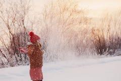 Όμορφο κορίτσι εφήβων υπαίθριο το χειμώνα στοκ εικόνες