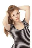 όμορφο κορίτσι κοντά δεκαπέντε ηλικίας επάνω στοκ φωτογραφία με δικαίωμα ελεύθερης χρήσης