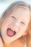 όμορφο κορίτσι λίγα υπαίθρια Στοκ Φωτογραφίες