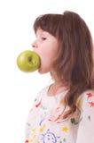 όμορφο κορίτσι μήλων λίγα Στοκ εικόνα με δικαίωμα ελεύθερης χρήσης