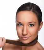 Όμορφο κορίτσι με τα μπλε μάτια Στοκ Φωτογραφίες