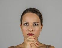 Όμορφο κορίτσι με την έκφραση Στοκ φωτογραφίες με δικαίωμα ελεύθερης χρήσης