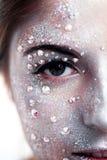 Όμορφο κορίτσι με την τέχνη σωμάτων Στοκ φωτογραφία με δικαίωμα ελεύθερης χρήσης