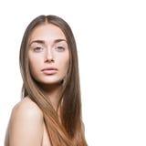 Όμορφο κορίτσι με τη φυσική σύνθεση στοκ φωτογραφίες με δικαίωμα ελεύθερης χρήσης