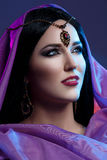 Όμορφο κορίτσι με το αραβικό makeup Στοκ φωτογραφίες με δικαίωμα ελεύθερης χρήσης